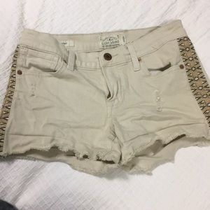 Lucky brand tan denim malibu shorts